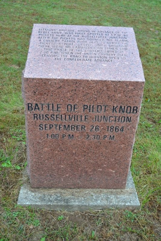Battle of Pilot Knob — Russellville Junction Marker image. Click for full size.