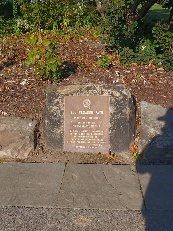 The Venango Path Marker image. Click for full size.