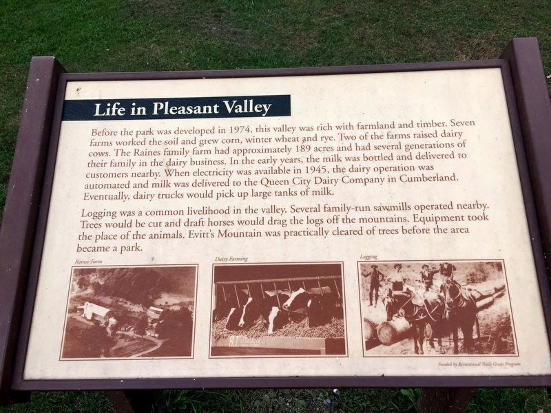 Life in Pleasant Valley Marker image. Click for full size.