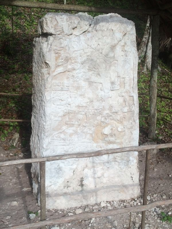 Stela 4 of Plaza C at Yaxhá image. Click for full size.