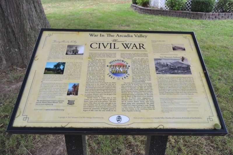War In The Arcadia Valley Marker image. Click for full size.