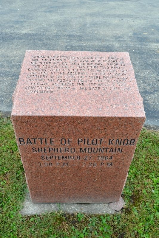 Battle of Pilot Knob — Shepherd Mountain Marker image. Click for full size.