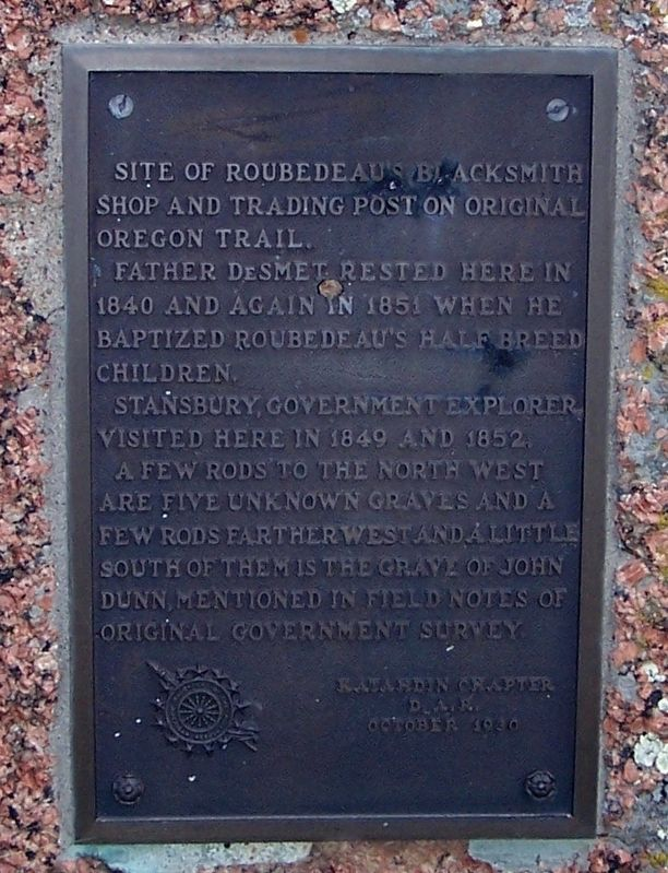 Robedeau Trading Post Marker image. Click for full size.