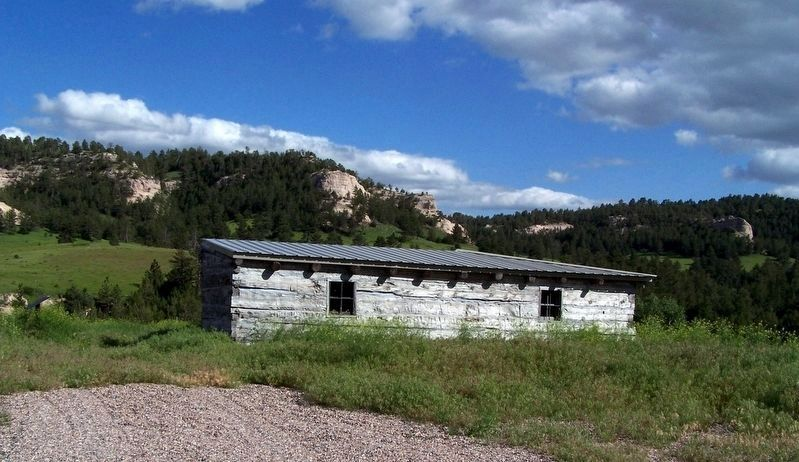 Reconstructed Trading Post, north side image. Click for full size.