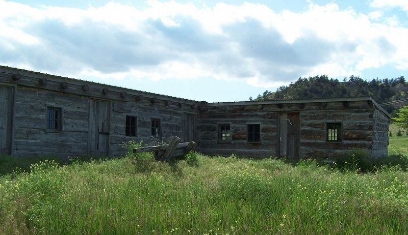 Reconstructed Trading Post, south side image. Click for full size.