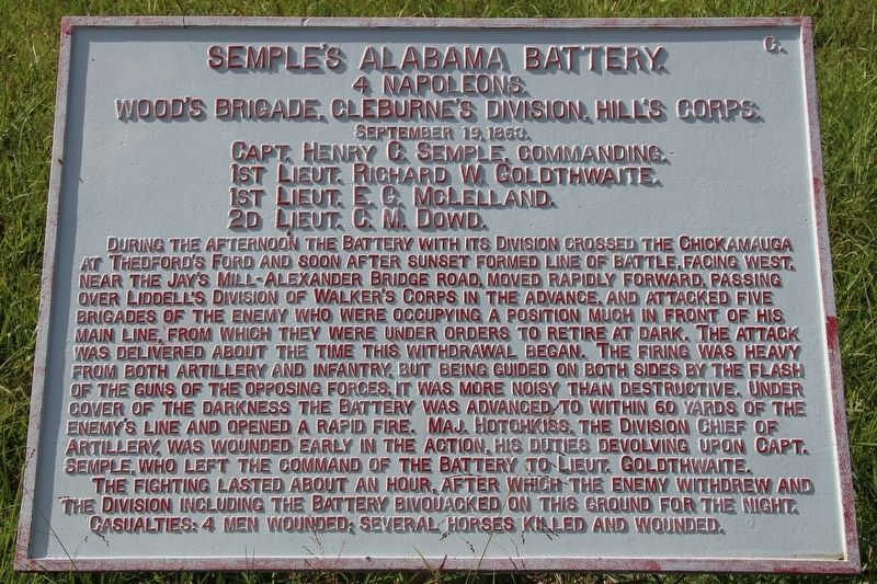 Semple's Alabama Battery Marker image. Click for full size.