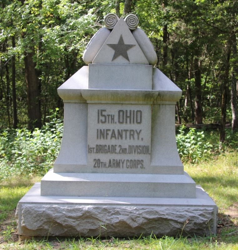 15th Ohio Infantry Marker image. Click for full size.