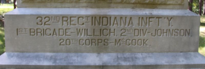 32nd Indiana Infantry Marker image. Click for full size.