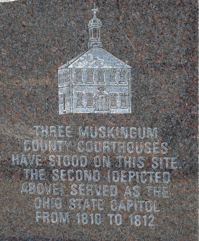 Three Muskingum County Courthouses Marker image. Click for full size.