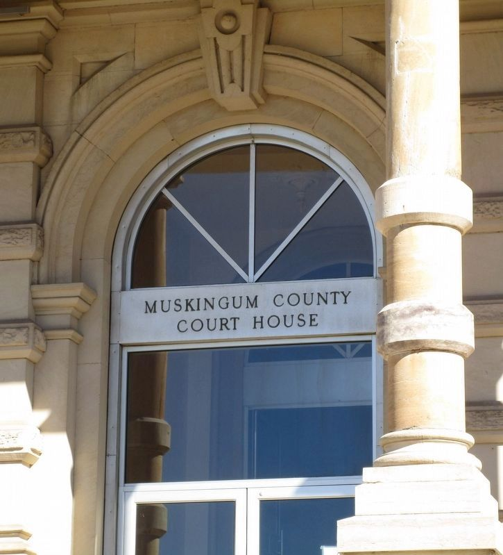 Three Muskingum County Courthouses image. Click for full size.