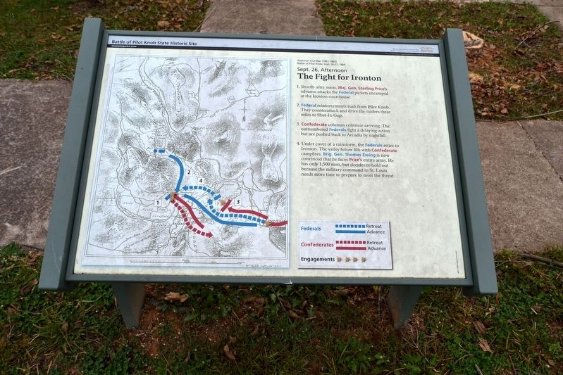 The Fight for Ironton Marker image. Click for full size.