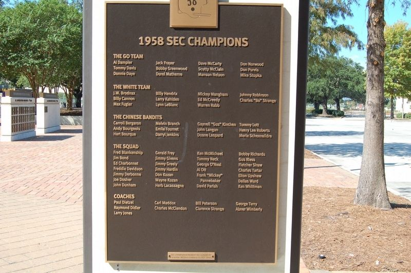 1958 SEC Champions Marker image. Click for full size.