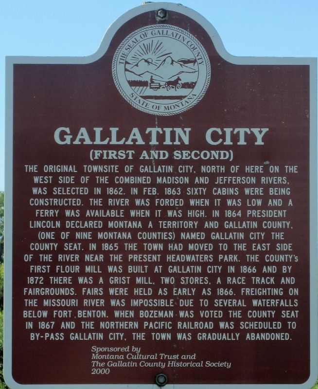 Gallatin City Marker image. Click for full size.