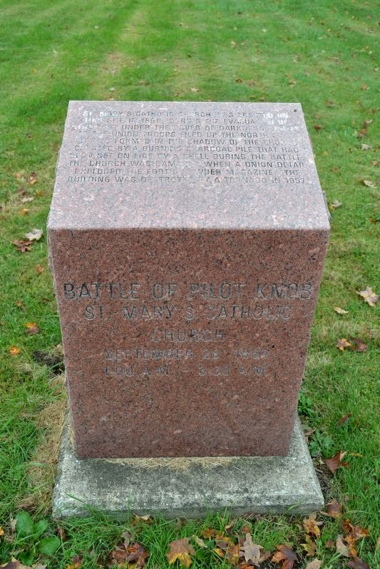 Battle of Pilot Knob — St. Mary's Catholic Church Marker image. Click for full size.