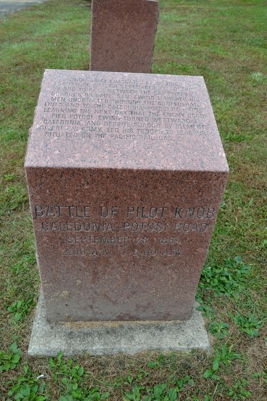 Battle of Pilot Knob — Caledonia-Potosi Road Marker image. Click for full size.