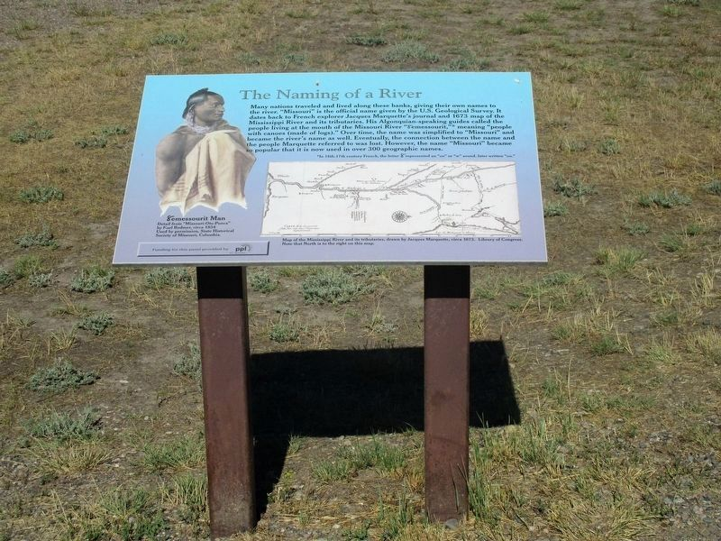 The Naming of a River Marker image. Click for full size.