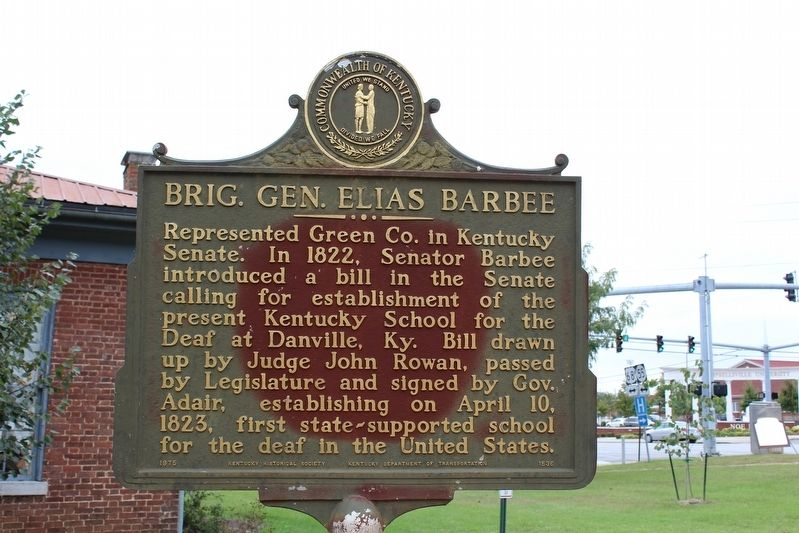 Brig. Gen. Elias Barbee Marker (Side 2) image. Click for full size.