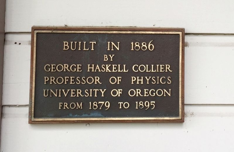 The Collier House Marker image. Click for full size.