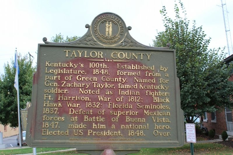 Campbellsville / Taylor County Marker image. Click for full size.