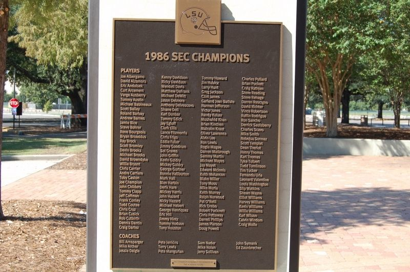 1986 SEC Champions Marker image. Click for full size.