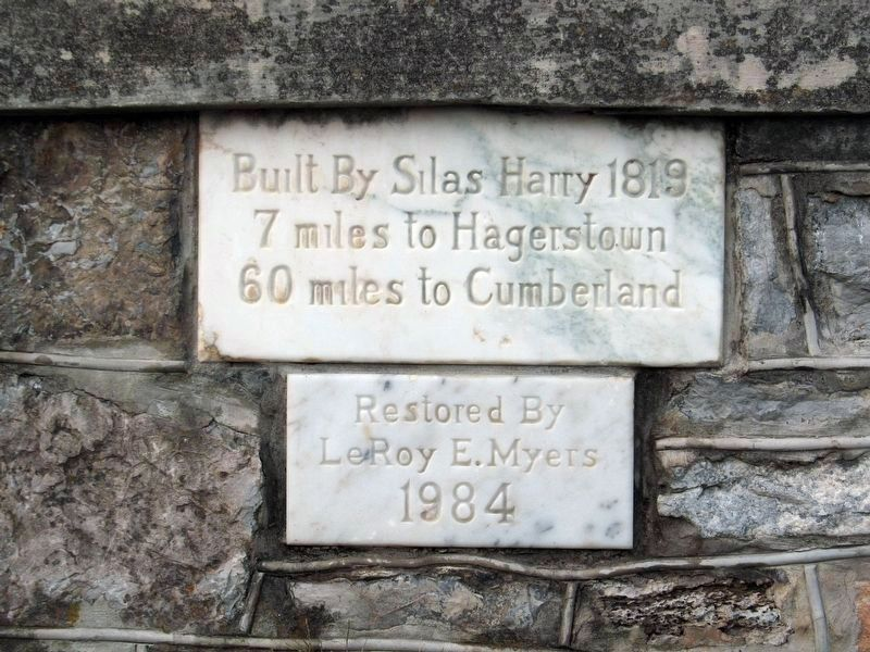 Built By Silas Harry 1819 image. Click for full size.