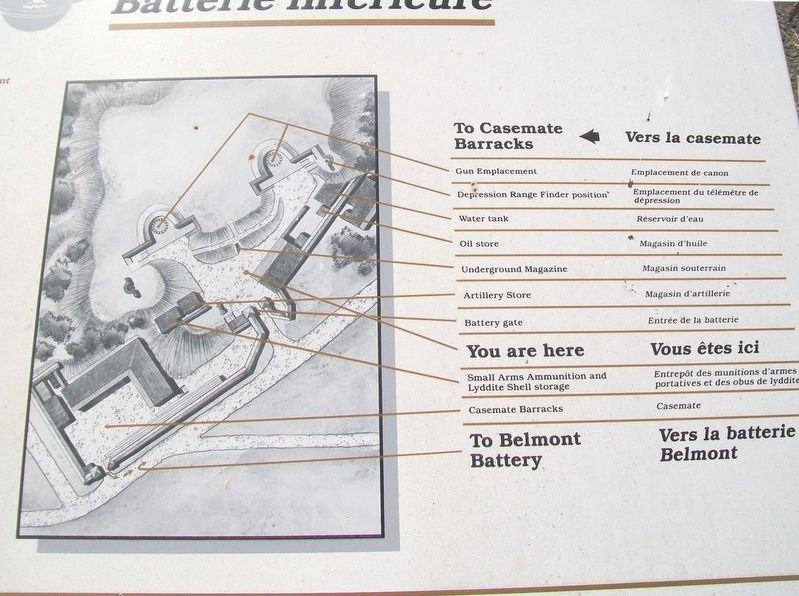 Lower Battery / Batterie inférieure Marker Detail image. Click for full size.