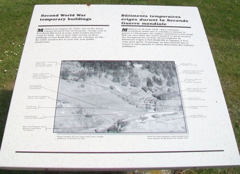 Second World War Temporary Buildings Marker image. Click for full size.