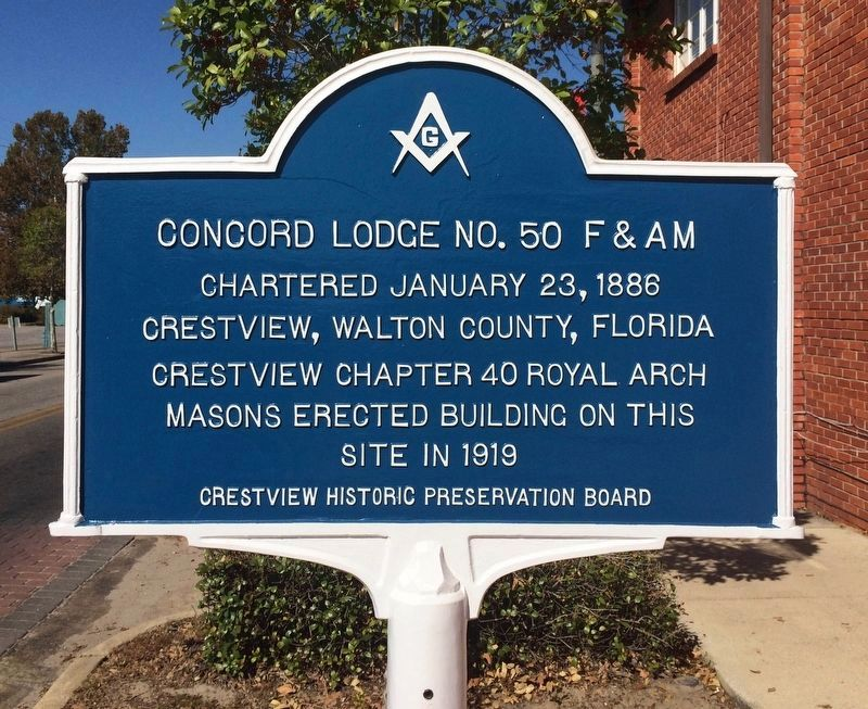Concord Lodge No. 50 F & AM Marker image. Click for full size.