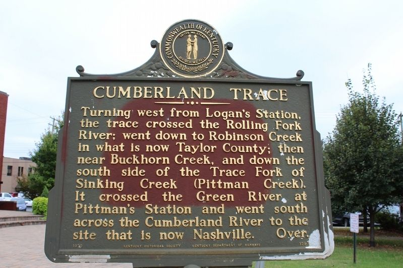 Cumberland Trace Marker (Side 2) image. Click for full size.