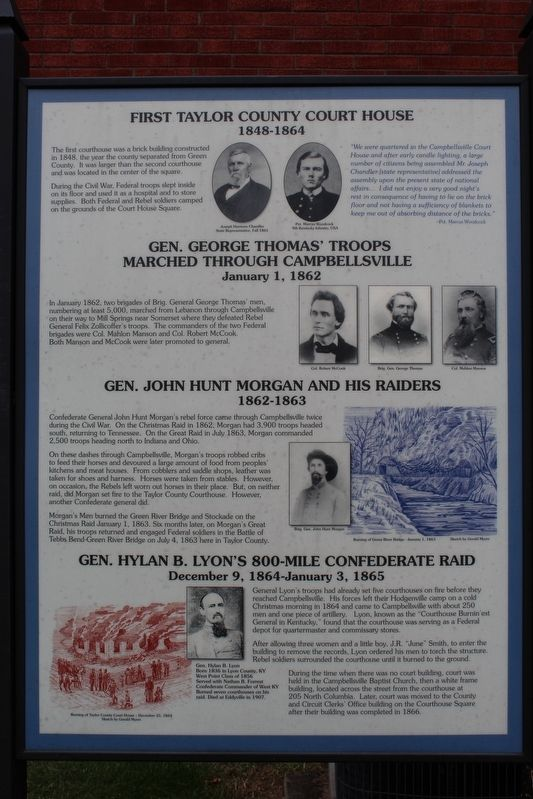 First Taylor County Courthouse Marker image. Click for full size.