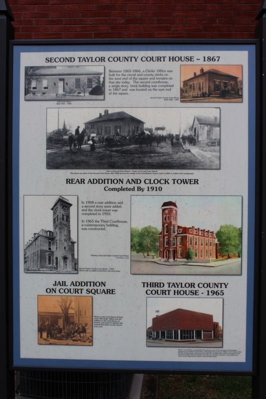 Second Taylor County Courthouse Marker image. Click for full size.