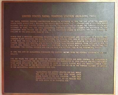 United States Naval Torpedo Station (Building Two) Marker image. Click for full size.