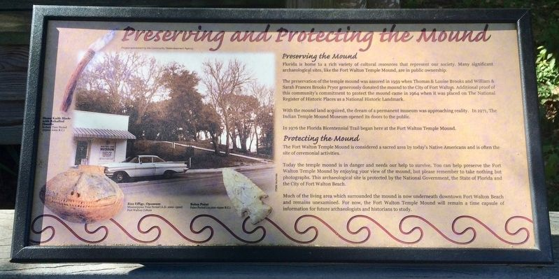 Preserving and Protecting the Mound Marker image. Click for full size.