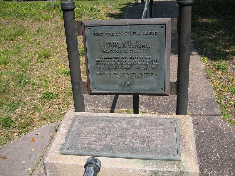 1965 National Historic Landmark plaque. image. Click for full size.