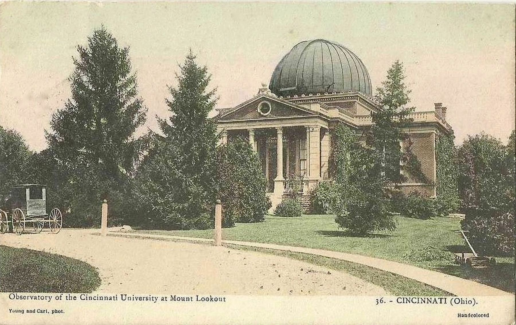 <i>Observatory of the Cincinnati University at Mount Lookout</i> image. Click for full size.