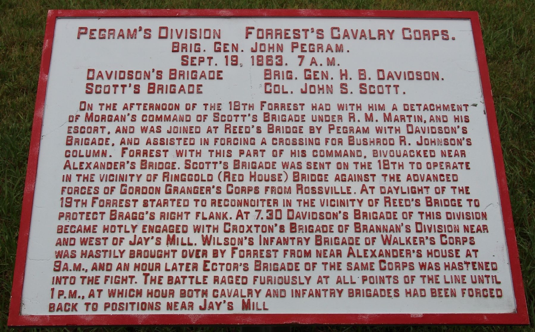 Pegram's Division Marker image. Click for full size.