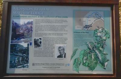 A Canyon Retreat: Mayhew Lodge Marker image. Click for full size.