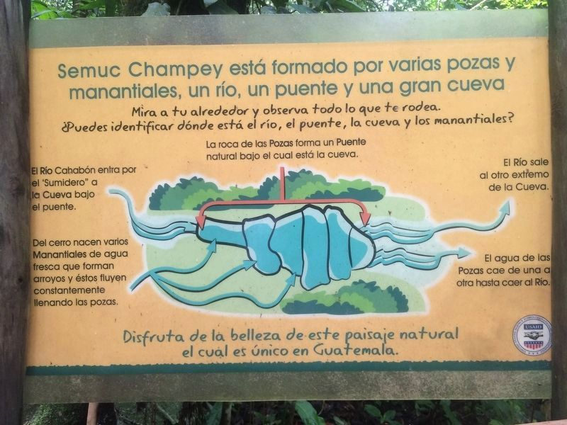 An additional, nearby marker on the Semuc Champey Pools image. Click for full size.