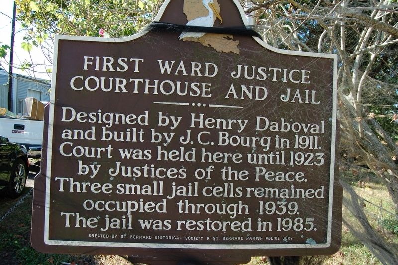 First Ward Justice Courthouse and Jail Marker image. Click for full size.