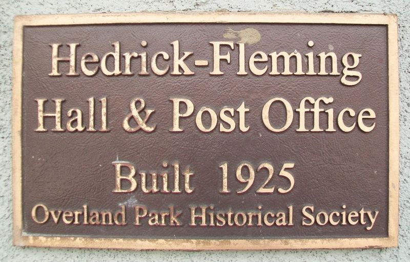 Hedrick-Fleming Hall & Post Office Marker image. Click for full size.