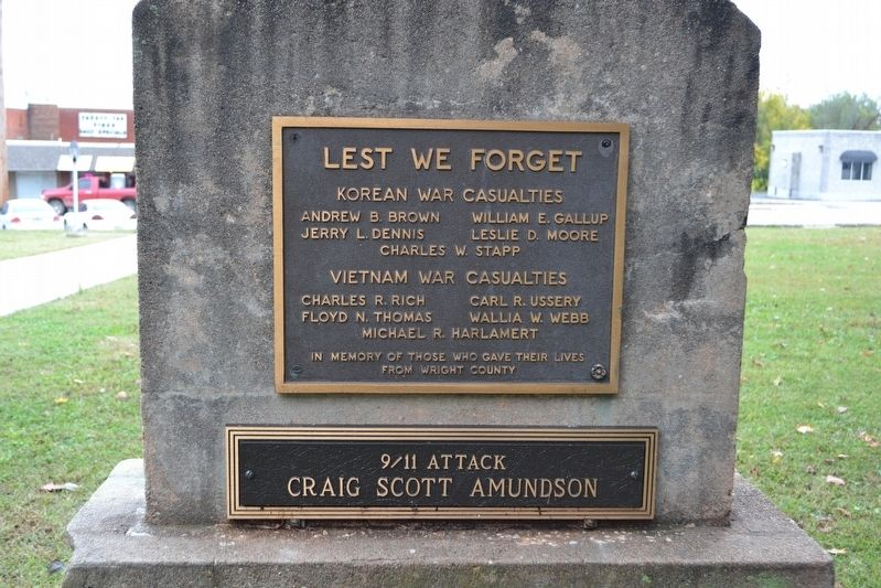 "Wright County ""Lest We Forget"" Memorial image. Click for full size."