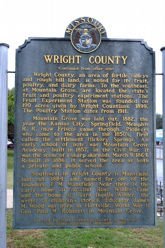 Wright County Marker image. Click for full size.