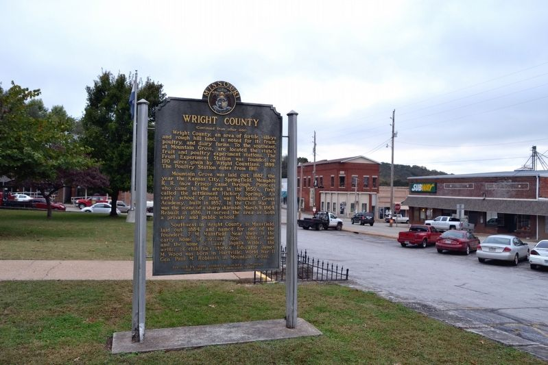 Back Side of Wright County Marker image. Click for full size.