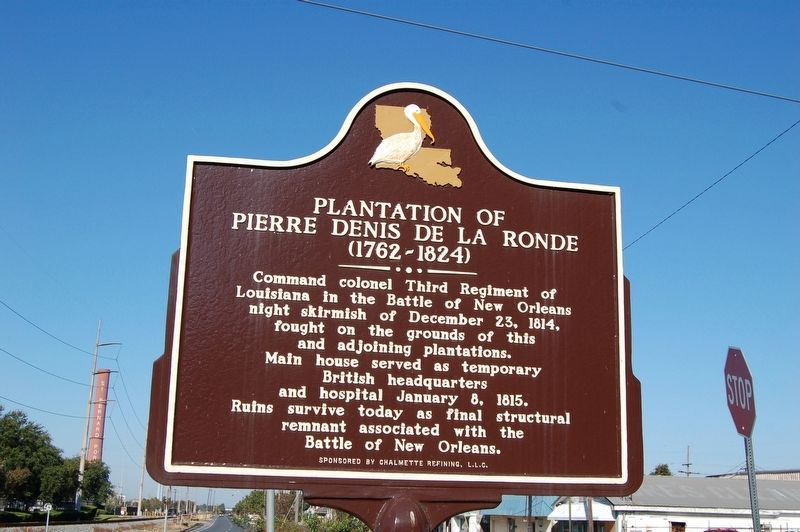 Plantation of Pierre Denis De La Ronde Marker image. Click for full size.