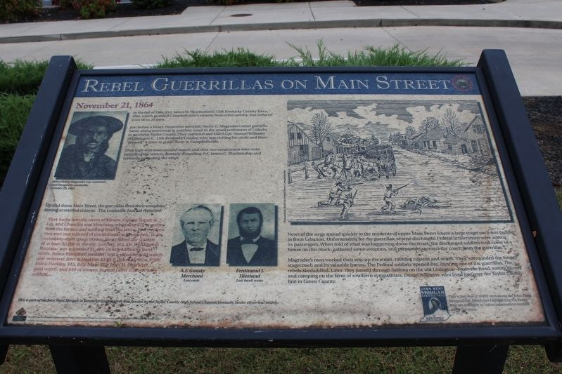 Rebel Guerrillas on Main Street Marker image. Click for full size.