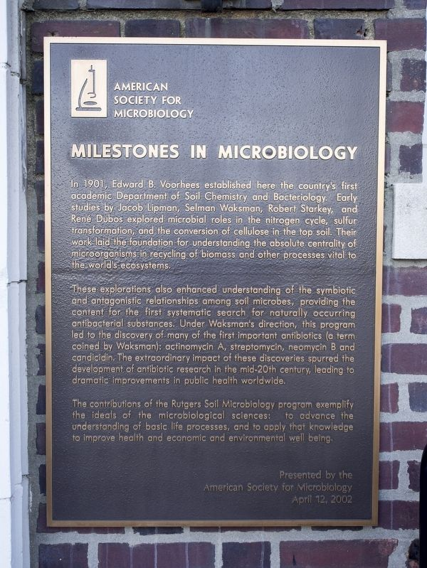 Milestones in Microbiology Marker image. Click for full size.