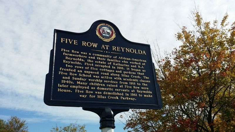 Five Row at Reynolda Marker image. Click for full size.