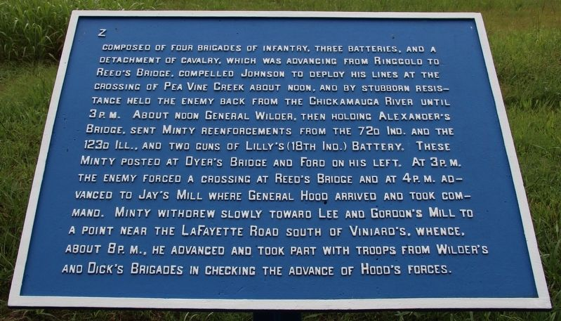 Minty's Cavalry Brigade Marker image. Click for full size.