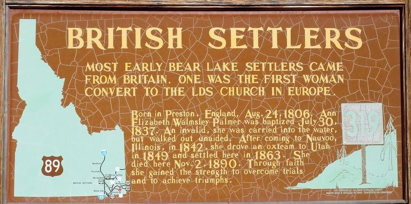 British Settlers Marker image. Click for full size.