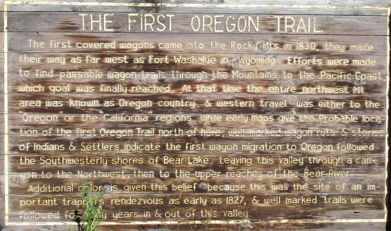 The First Oregon Trail Marker image. Click for full size.